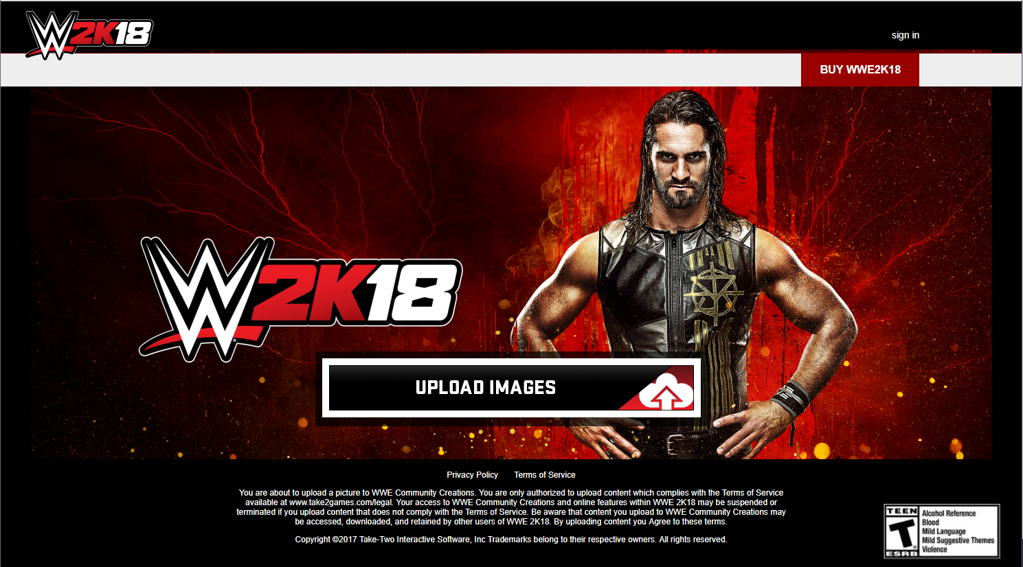 WWE 2k18 Logo Uploader site is live and confirms the Switch.