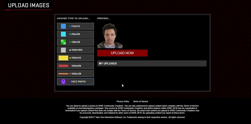 How to upload your face into WWE 2K18.