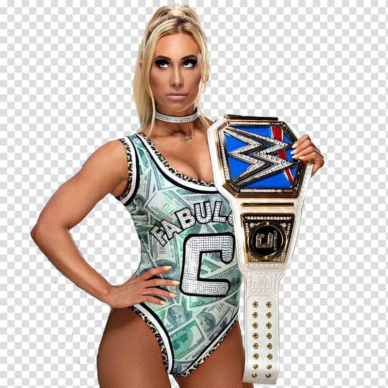 Carmella Smackdown Womens Champion transparent background.