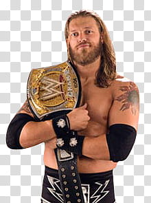 Edge WWE champion transparent background PNG clipart.