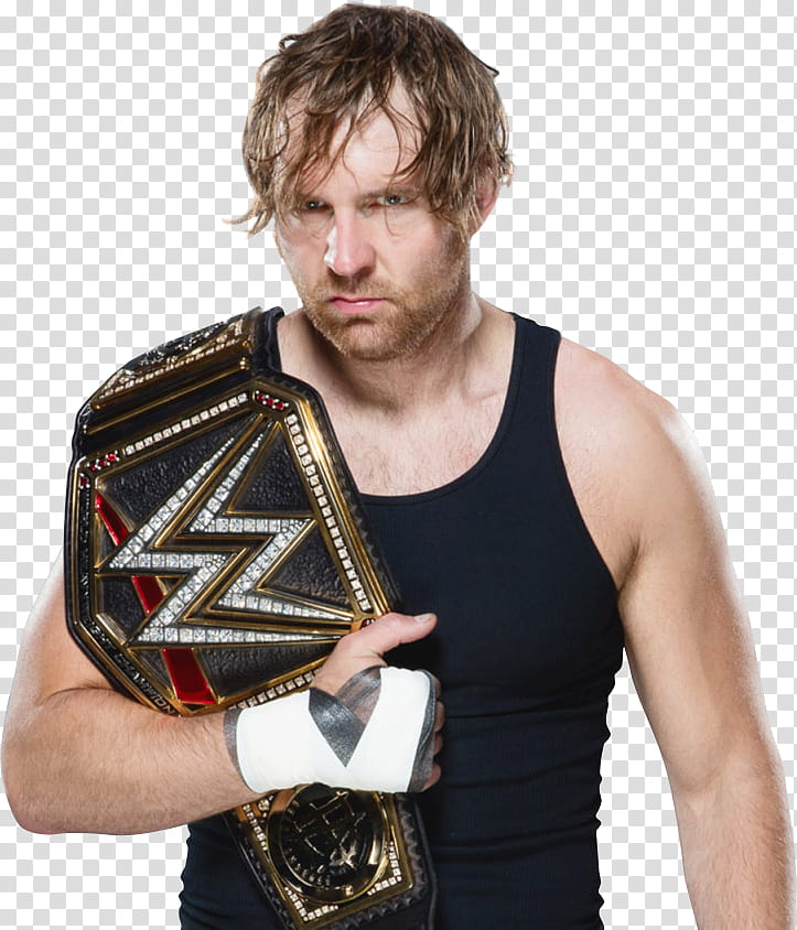 Dean Ambrose WWE World Champion Draft transparent background.