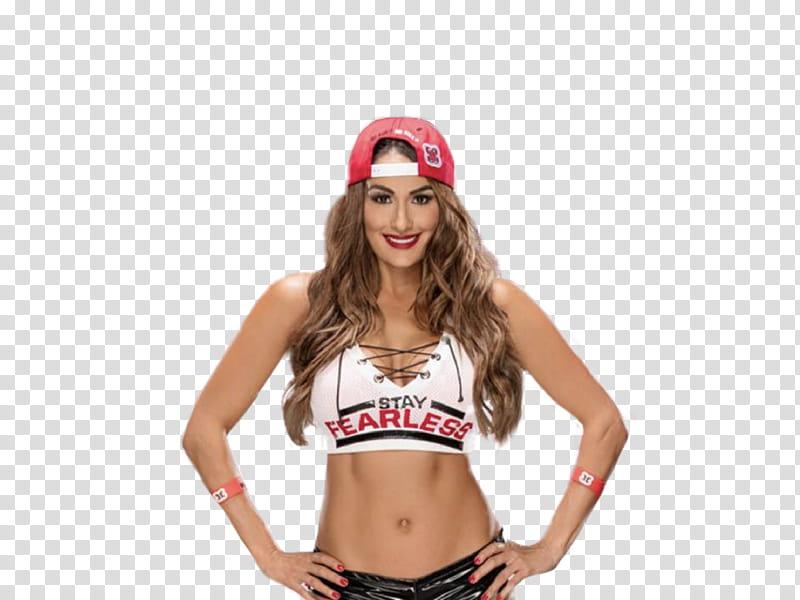 Nikki Bella WWE K Roster Art transparent background PNG.