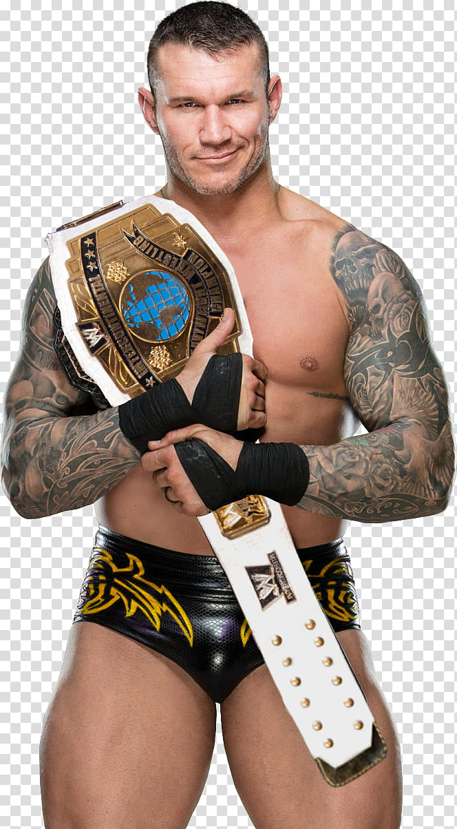 Randy Orton IC Champion Custom transparent background PNG.