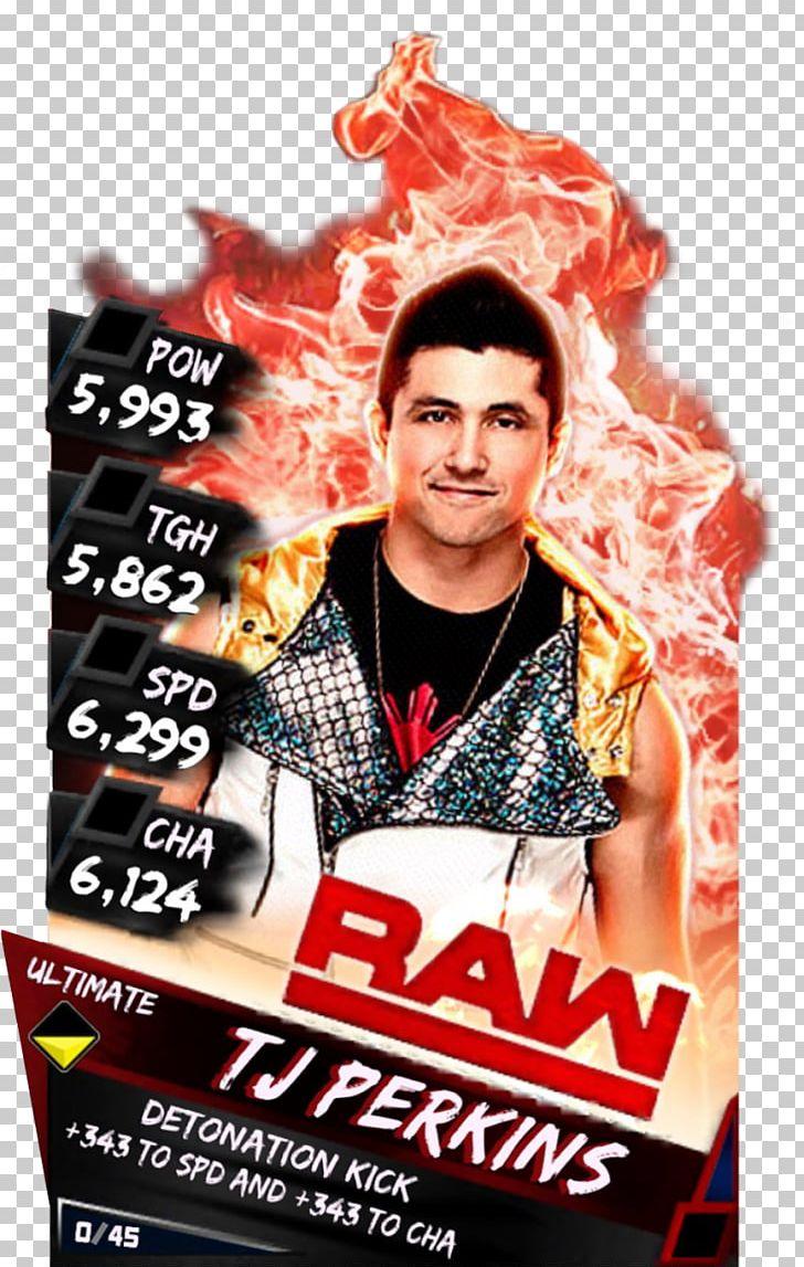 T. J. Perkins WWE Raw WWE SuperCard WWE 2K PNG, Clipart, Advertising.