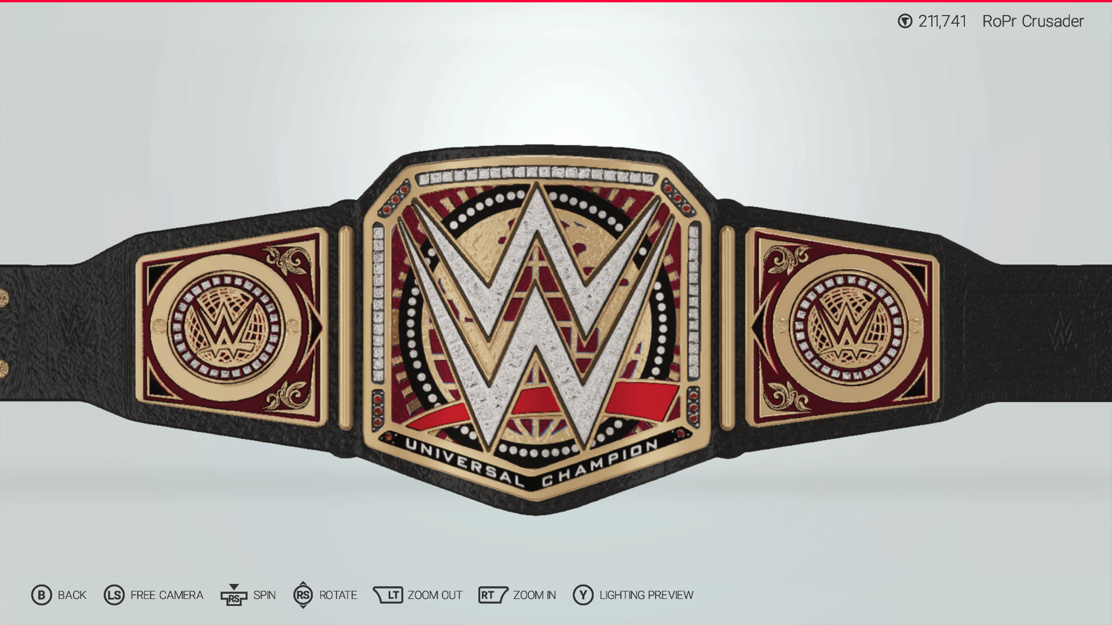 The new WWE Universal Championship design I'm going to be using in.