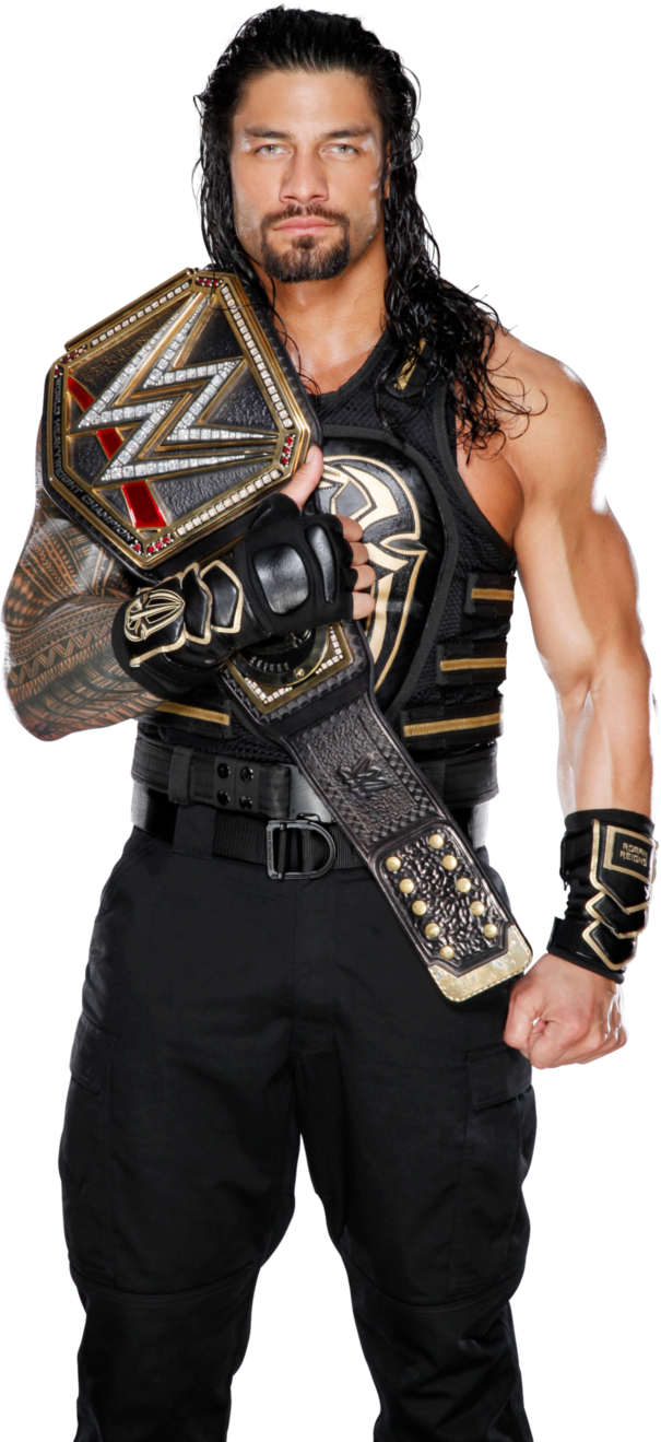 Download Free png Roman Reigns 2016 WWE WHC PNG.