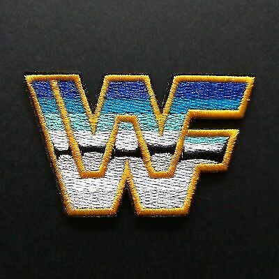 WWF WWE Wrestling Logo Embroidered Iron on Patch for sale online.