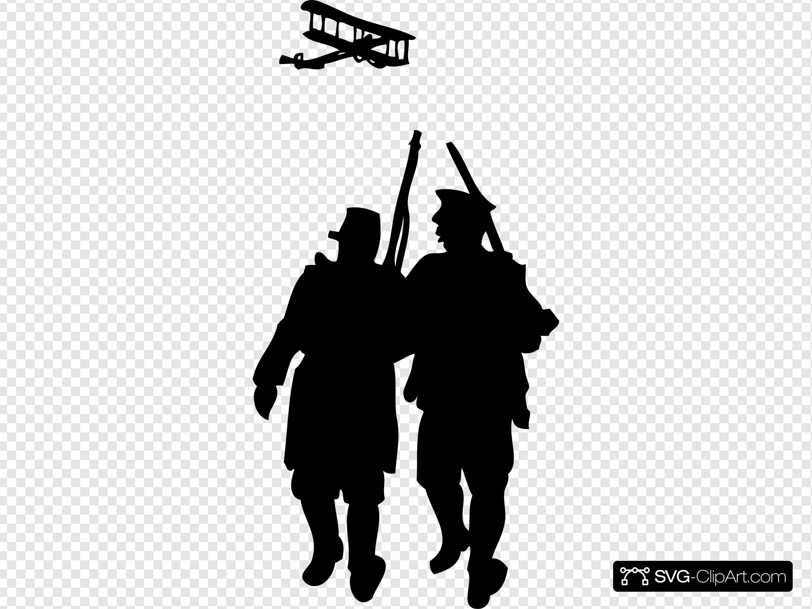 World War I Silhouette Clip art, Icon and SVG.