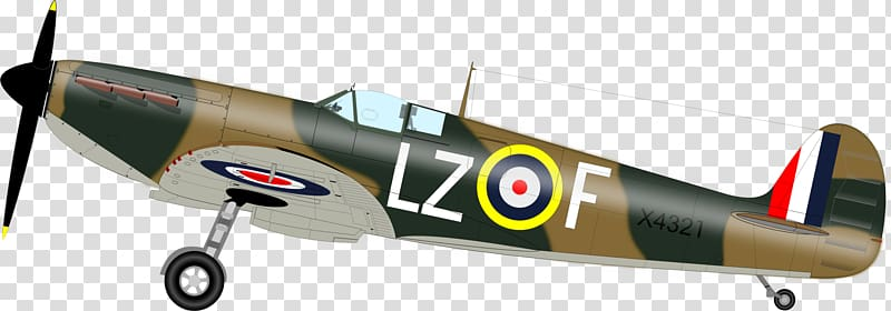 Airplane Second World War Supermarine Spitfire Fighter.