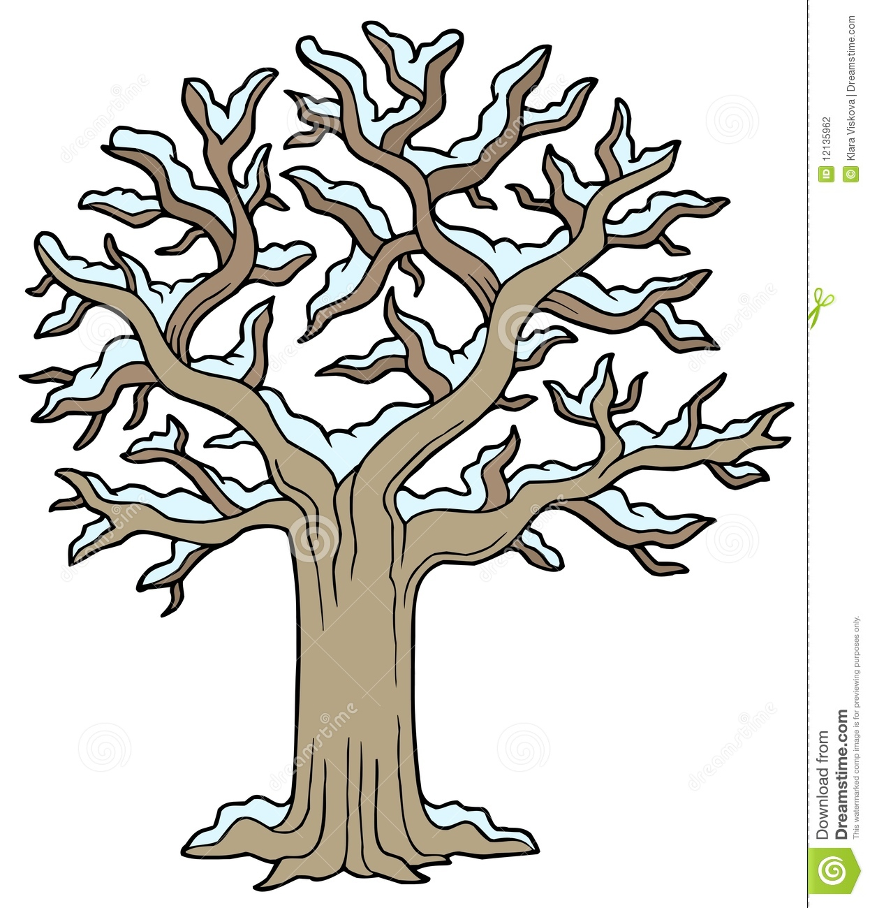 Winter trees clipart 5 » Clipart Station.