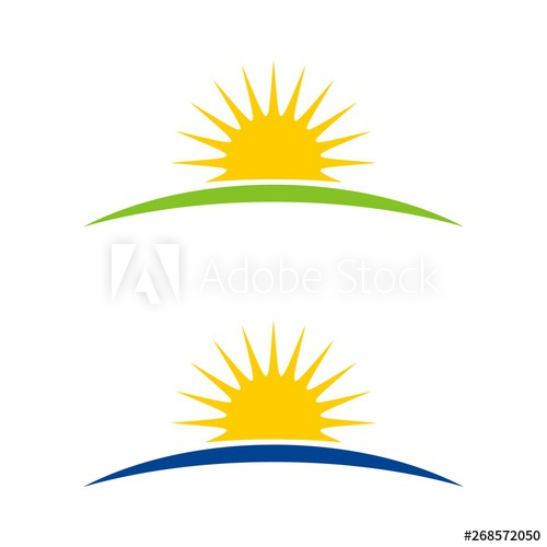 Sunshine Horizon Logo Template.