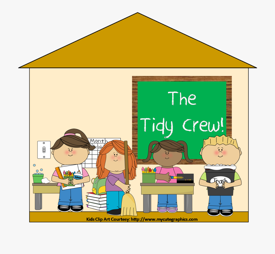 Child Clipart Cleaning Classroom.