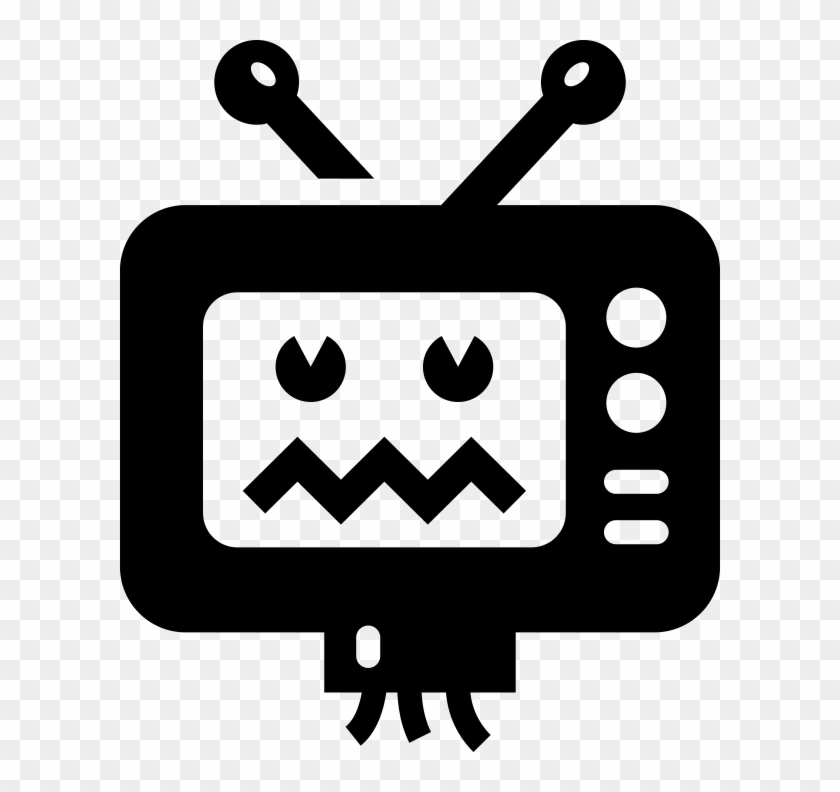 Tv Clipart Broken Tv, HD Png Download (#55559).