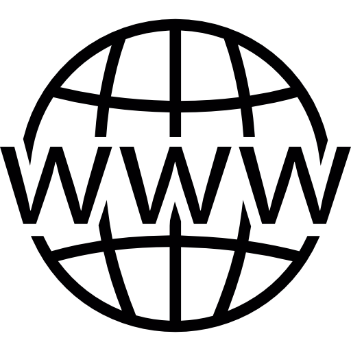 World wide web on grid Icons.