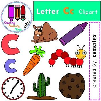 Letter Cc Digital Clipart.