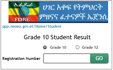 Checking www.nae.gov.et grade 10 exam result 2018.