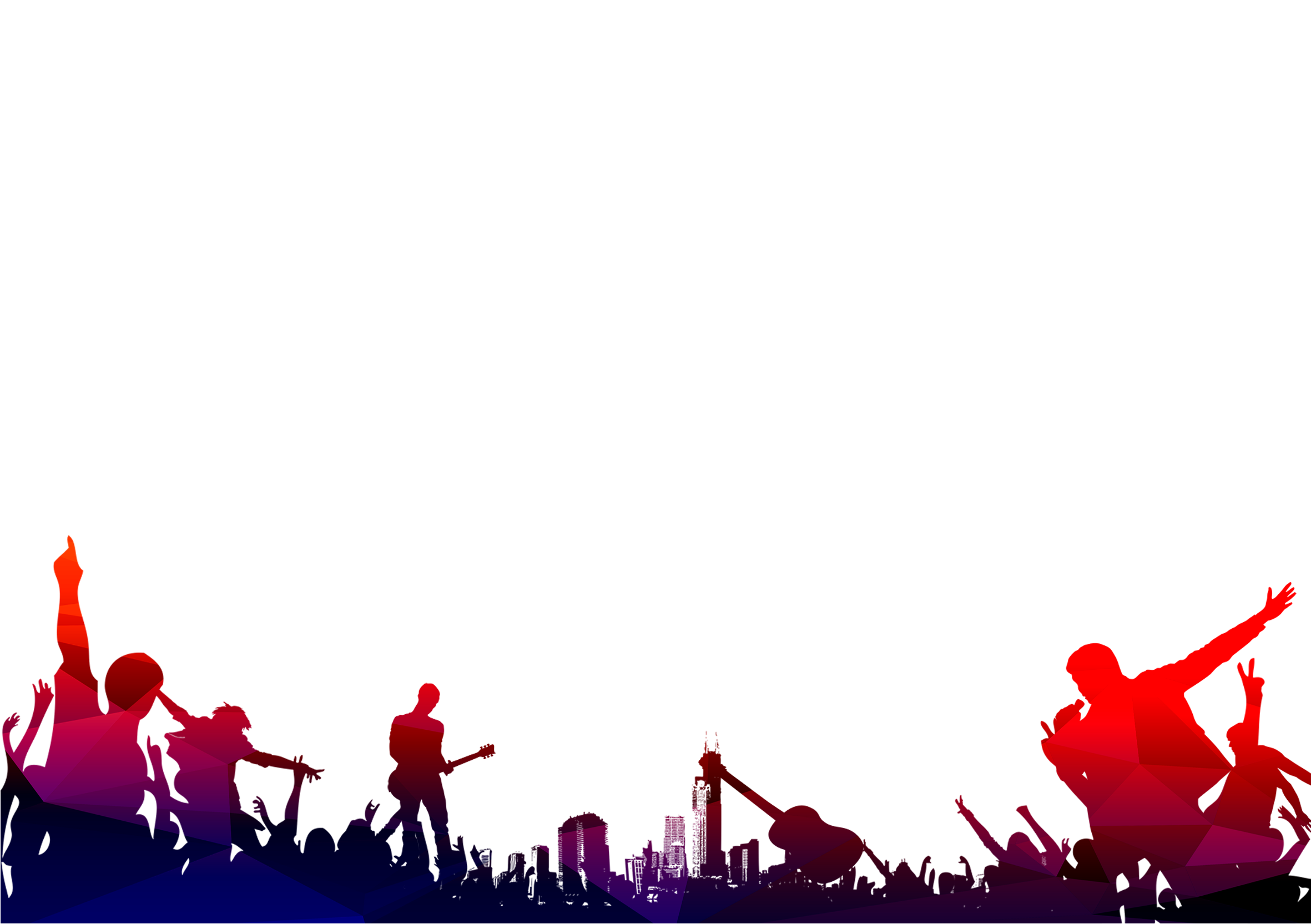 City Music Concert PNG Background free download.