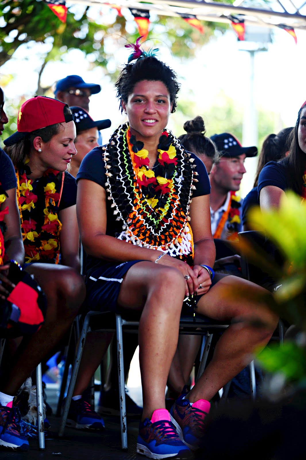 Unpretentious Black Thoughts: French player finds her PNG roots.