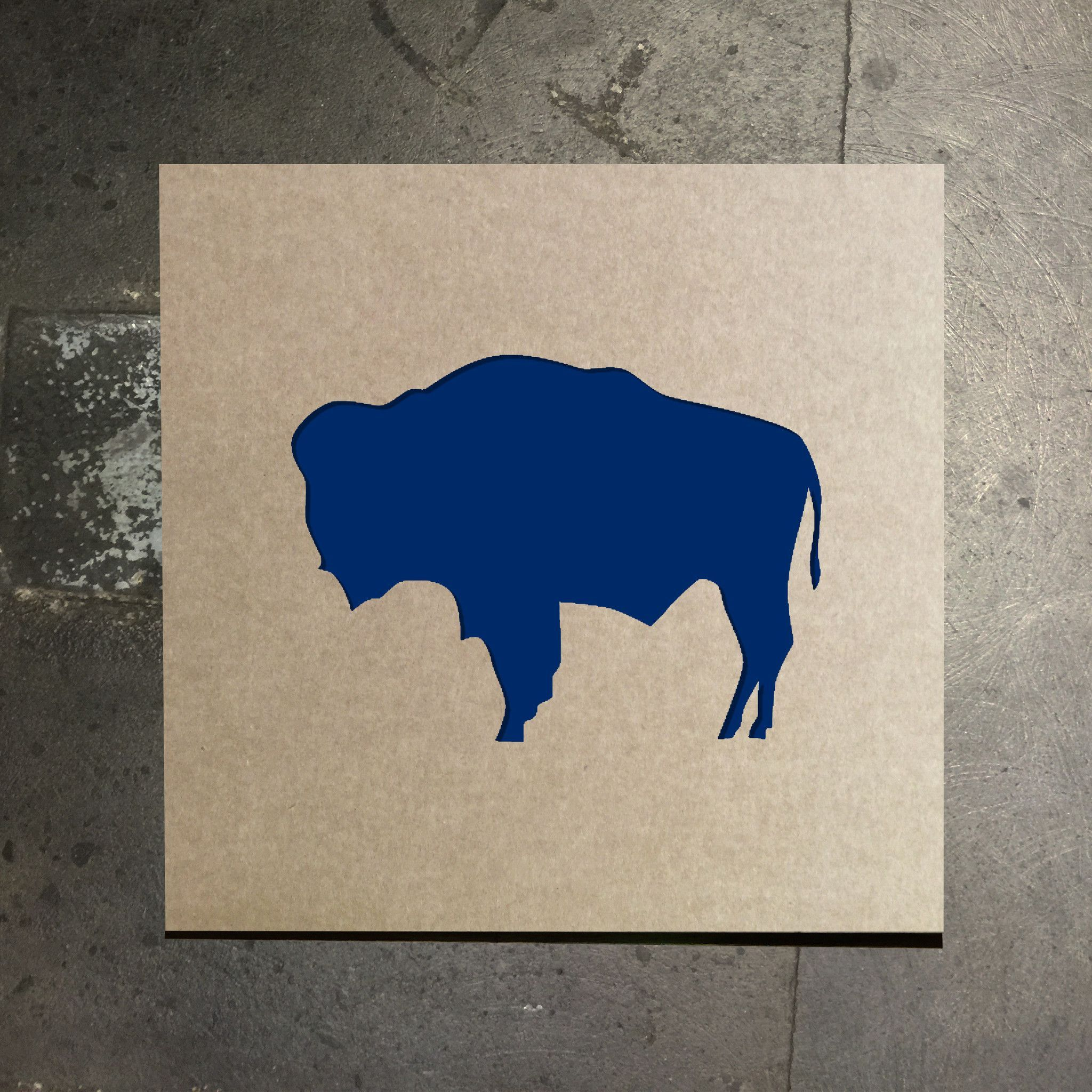Wyoming State Flag Buffalo Stencil.
