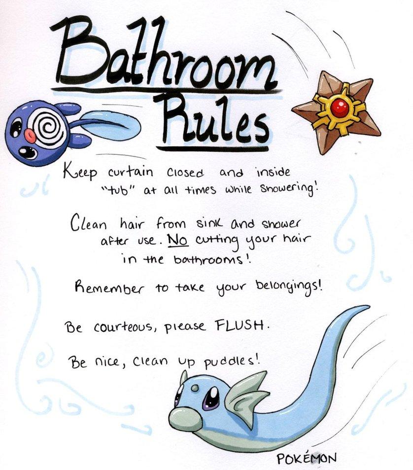 Clip Art School Restroom Rules Clipart.