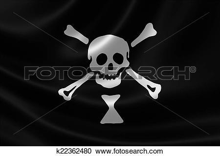 Stock Illustrations of Pirate Flag of Emanuel Wynn k22362480.