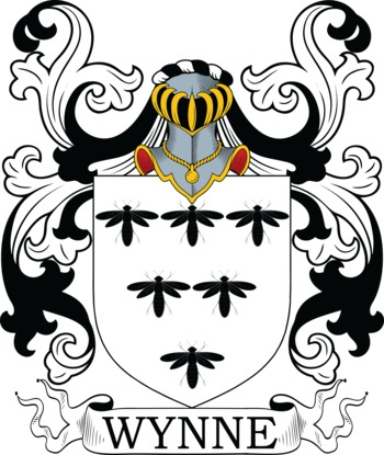 Wynne Coat of Arms Meanings and Family Crest Artwork.
