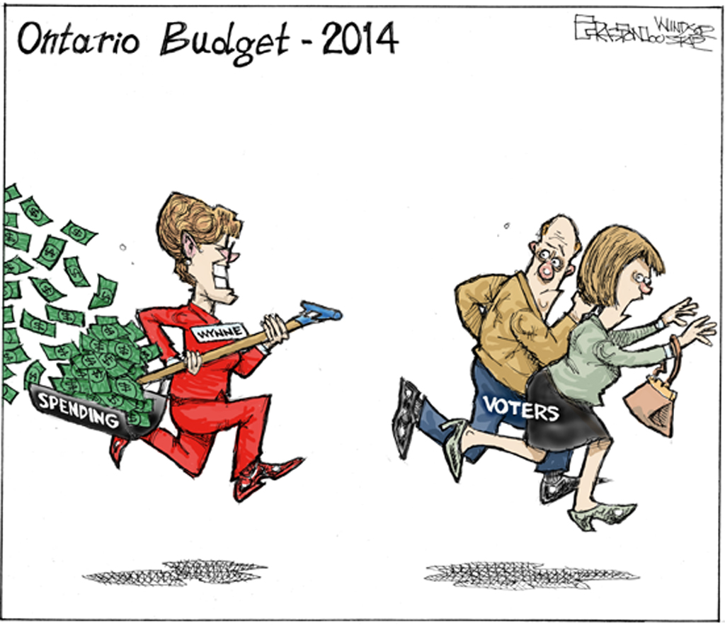 Kathleen Wynne Cartoon.