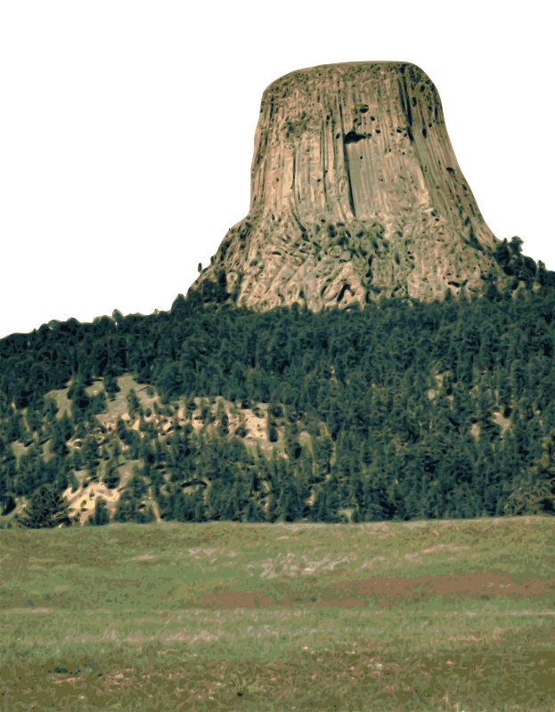 Free Clipart: Devil\'s Tower.