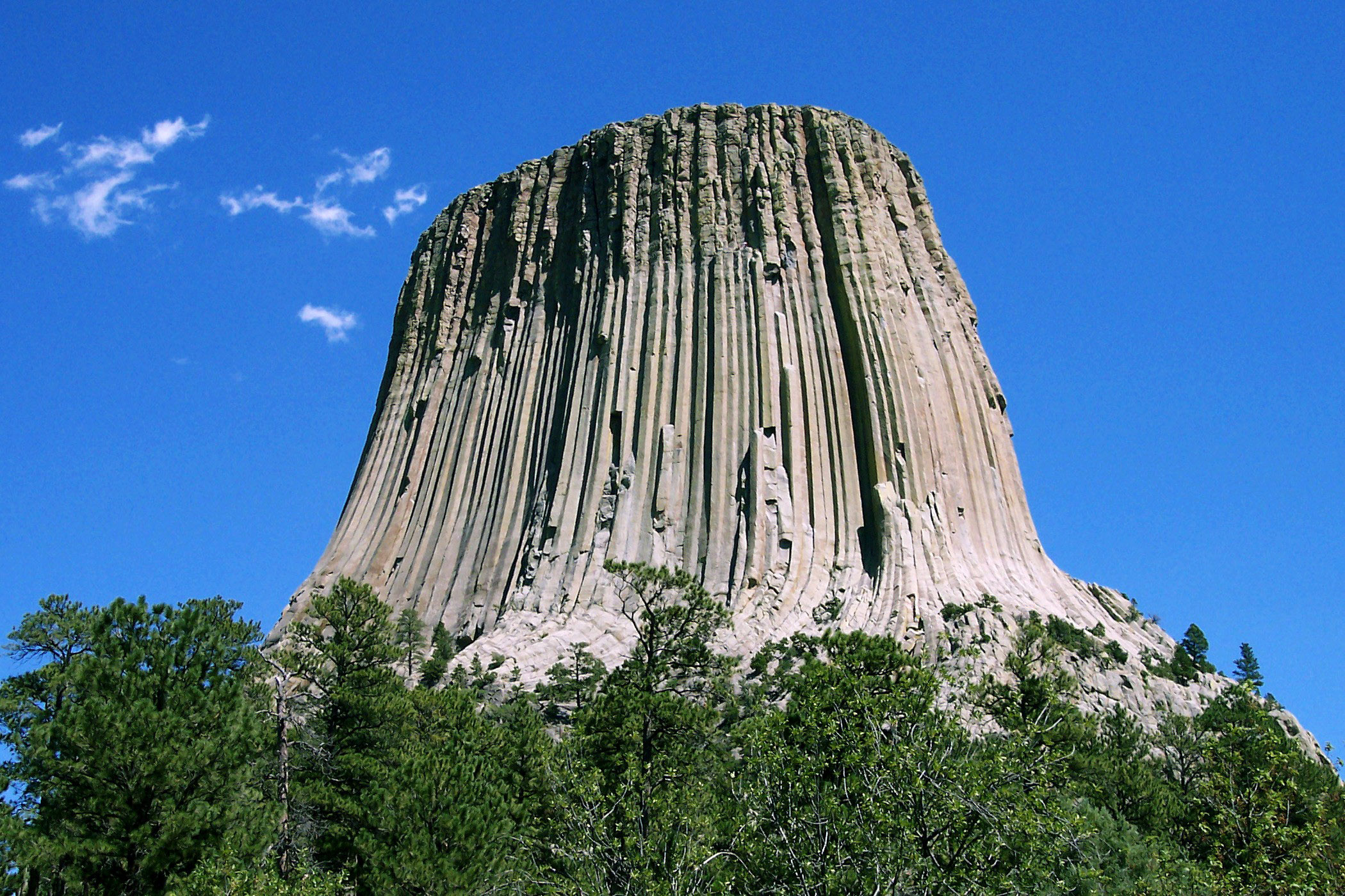 Devils Tower National Monument in Sundance, Wyoming image.