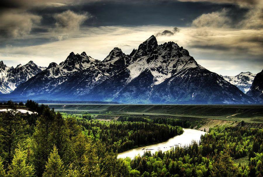 Grand Teton in Wyoming USA.