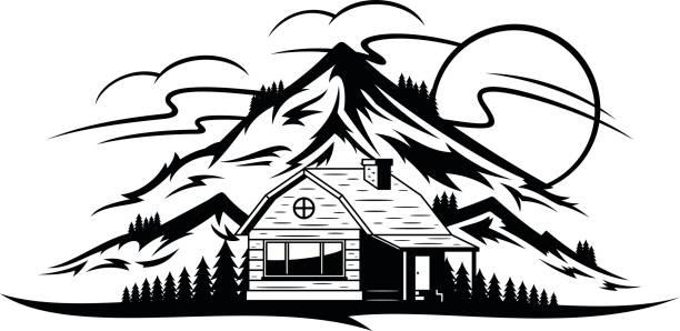 Mountain House Clipart.