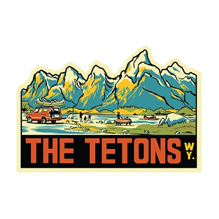 The Grand Tetons retro travel sticker in 2019.