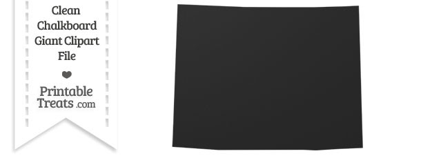 Clean Chalkboard Giant Wyoming State Clipart — Printable Treats.com.