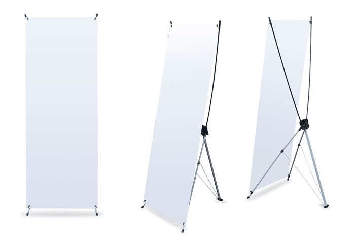 X Banners 2 ft x 5.3 ft.