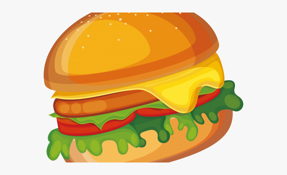 Veggie Burger Clipart Fast Food.