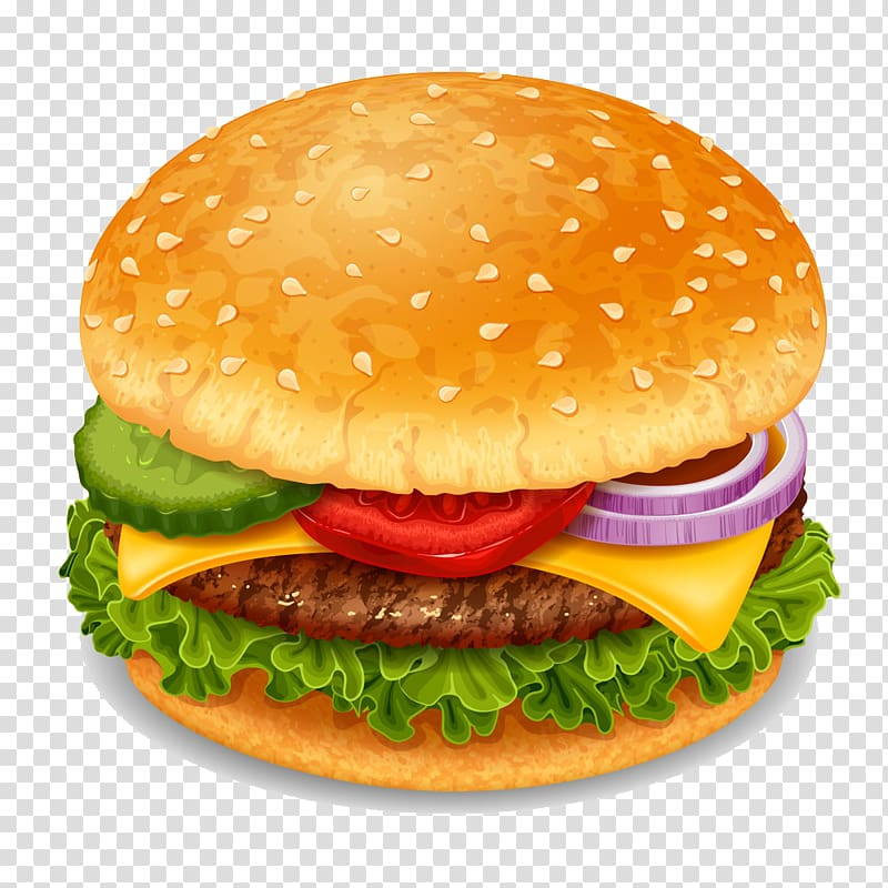 Hamburger illustration, Hamburger Soft drink Coca.