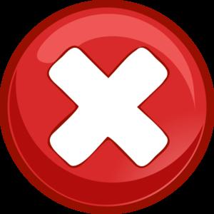 X Mark Clip Art.