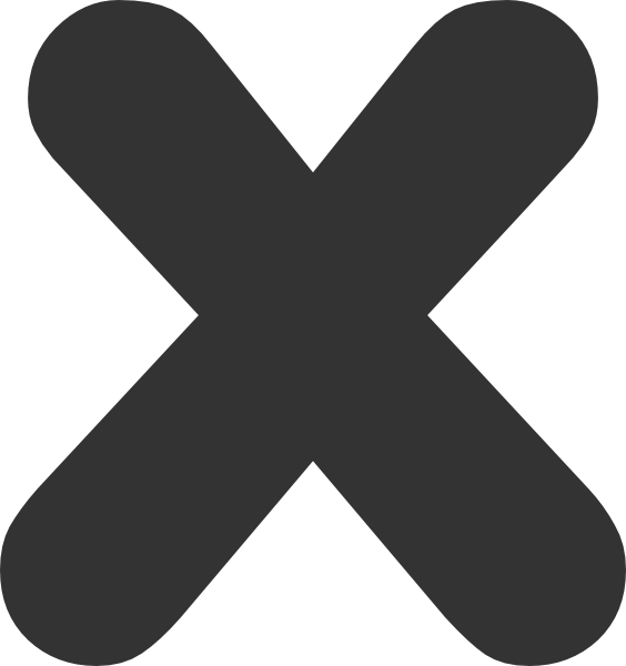 X Clipart.