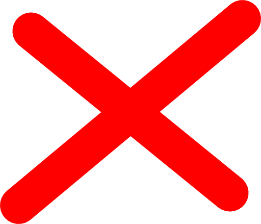 Red X Clipart.