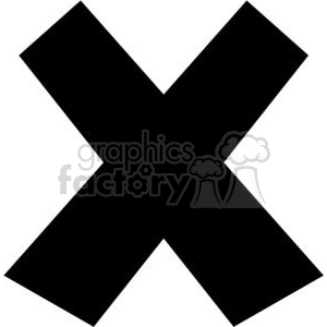 X clipart black and white 4 » Clipart Station.