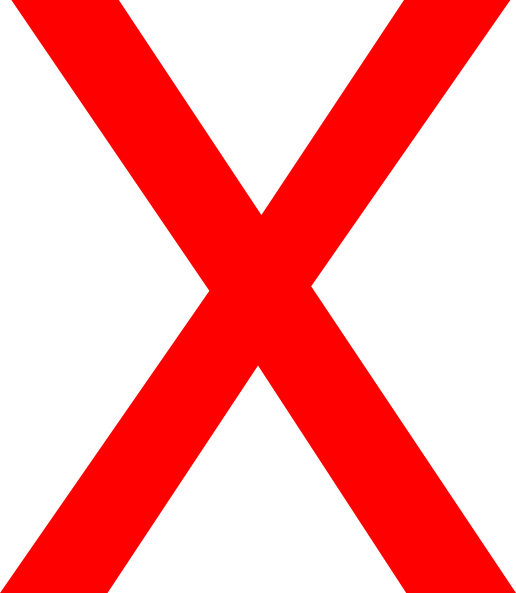X Clipart No Background.