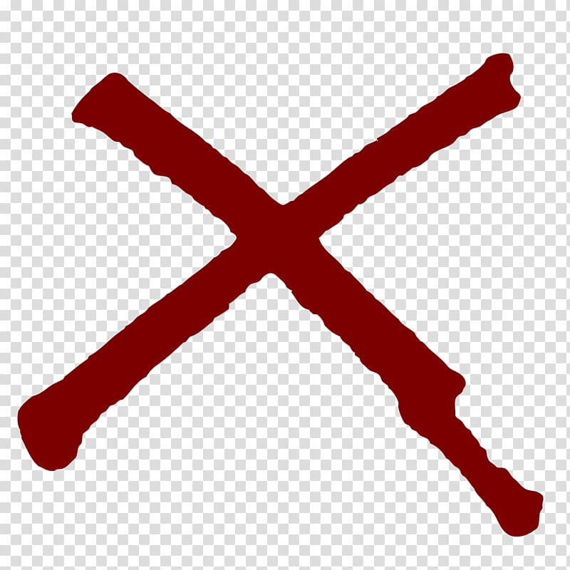 Red X, Computer Icons Drawing , Dark Red X transparent background.
