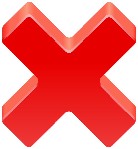 Free Red X Mark Transparent Background, Download Free Clip.