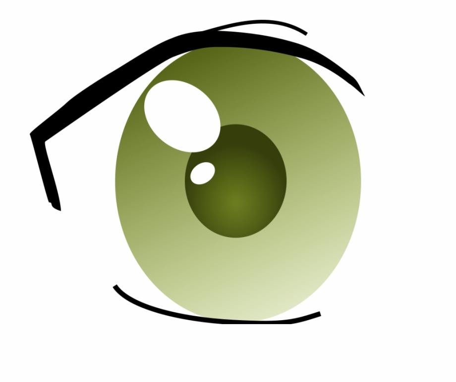 Green Eyes Clipart Left Eye.