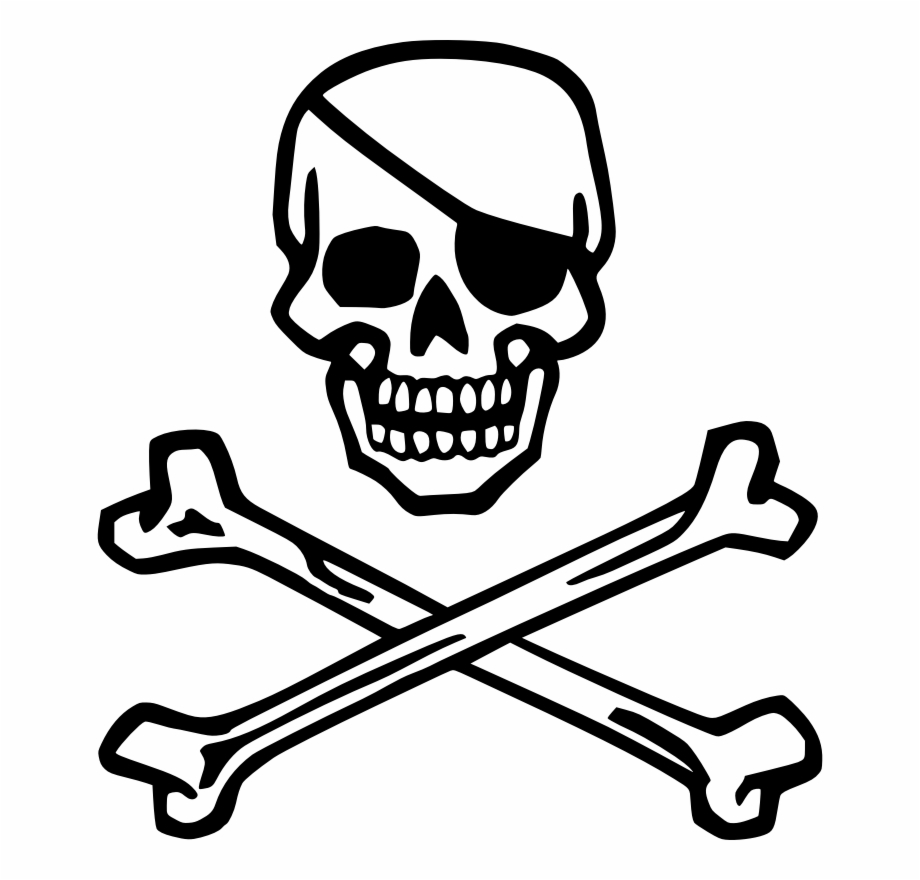 Skull Crossbones Png Skull With Eye Patch.