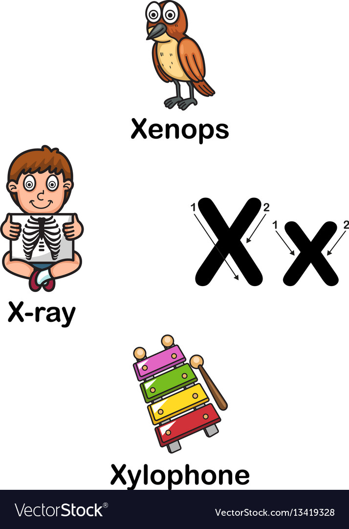 Alphabet letter x.