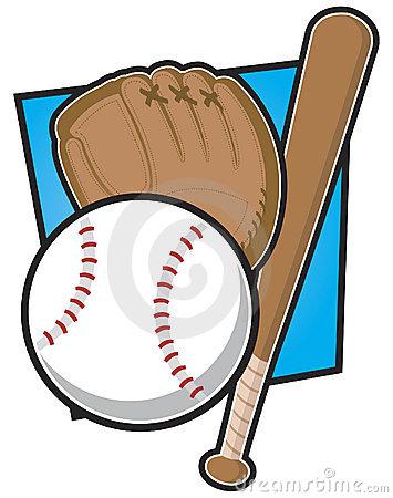 Baseball Equipment Stock Vector.