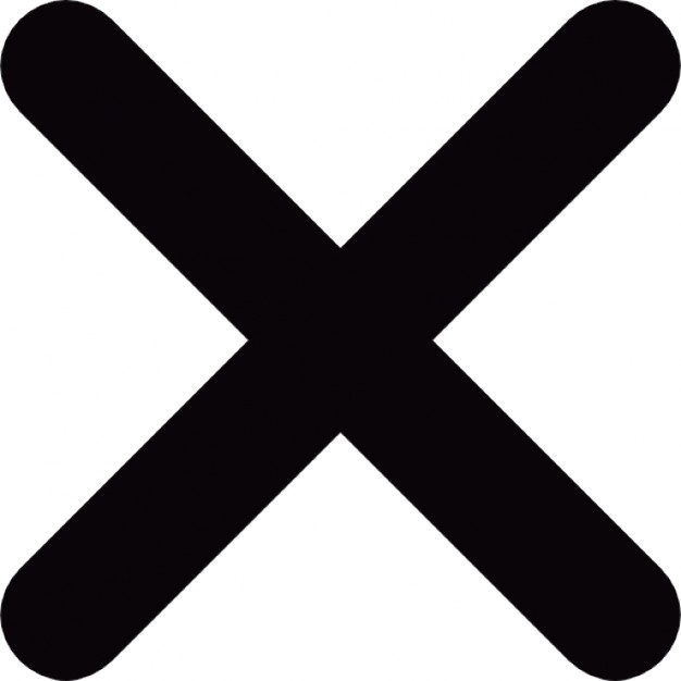 X Icon Png #383640.