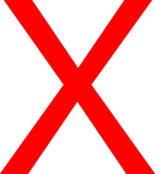 Big Red X Clip Art at Clker.com.