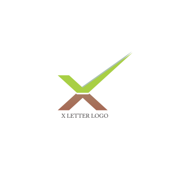 X tick letter logo design download.